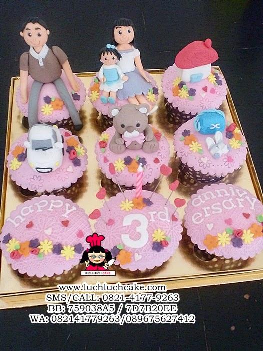 Cupcake Anniversary Cantik Daerah Surabaya - Sidoarjo