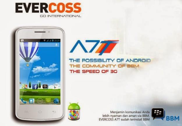 Harga dan Spesifikasi Evercoss A7T, Dual core android 700-ribuan