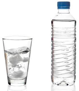 bottle & glass of water