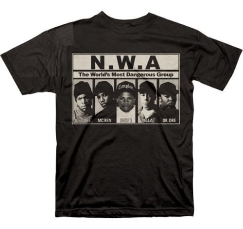 NWA (N.W.A.) - MOST DANGEROUS GROUP BLACK T-SHIRT S,M, L, XL, 2XL, 3XL, 4XL C122