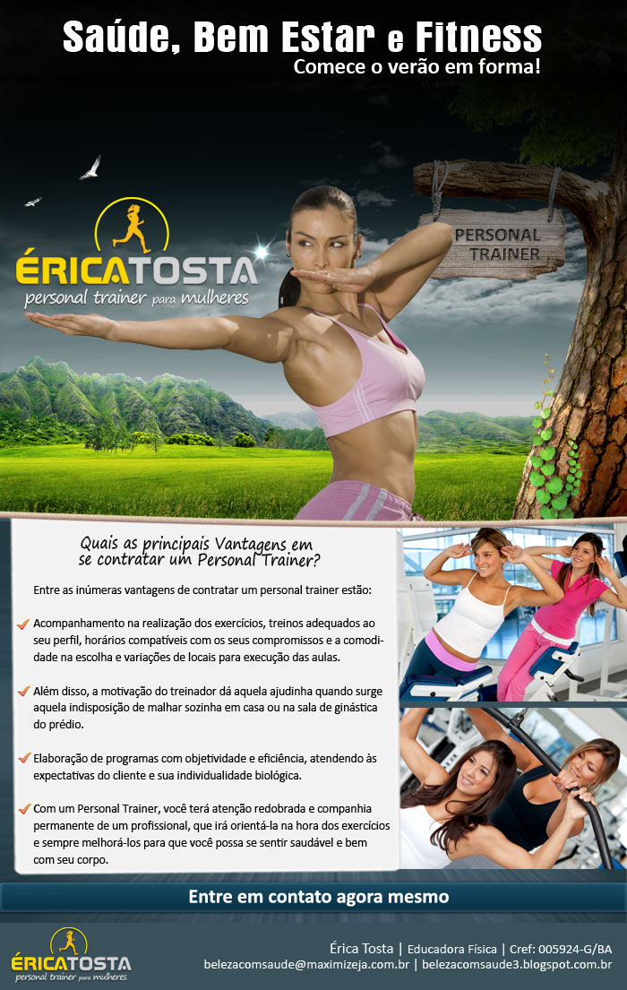 érica tosta personal trainer para mulheres