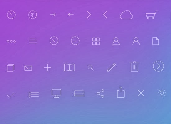 40 Free High-Quality Line Icon Sets