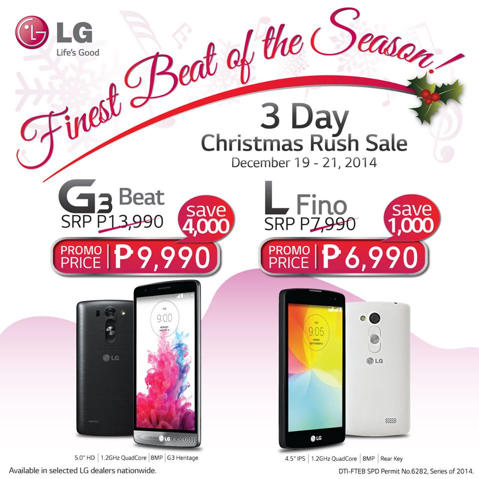 LG 3 Day Christmas Rush Sale!