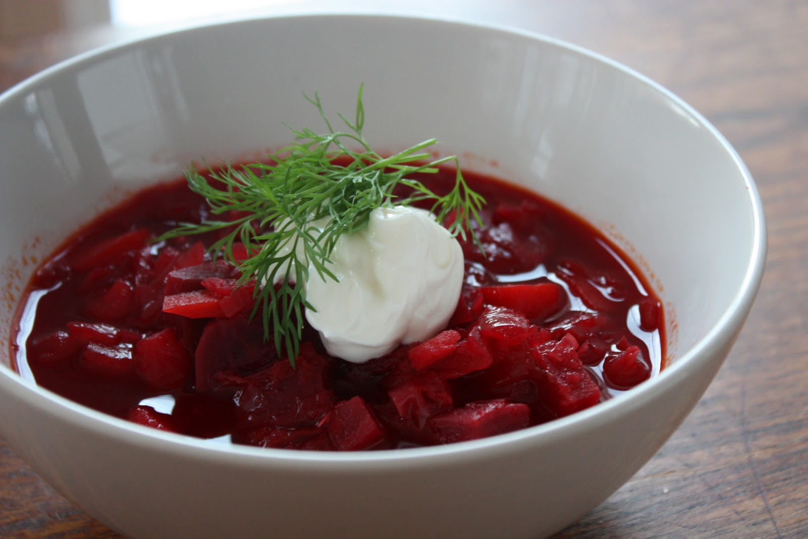 Oh, borscht. I've loved you ever since we were properly introduced in ...