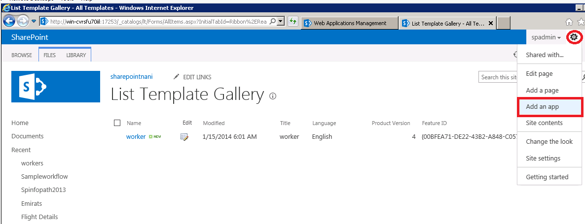 Malneedi Nani (sharepoint consultant): Create a list using list ...