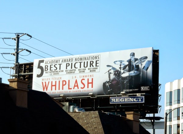 Whiplash Oscar nominee billboard