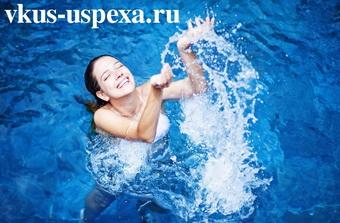 Принимать водные процедуры, во время водных процедур полезны, виды водных процедур