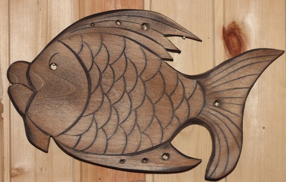 Рыба из дерева своими руками фото