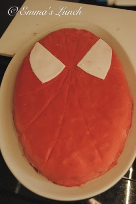 Spiderman Shaped Cake
