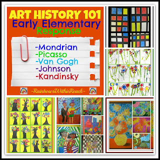 Art History 101: Art Projects for Early Elementary via RainbowsWithinReach