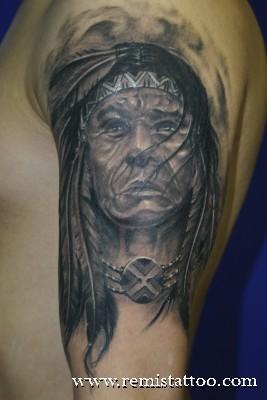 Black And Grey Tatto