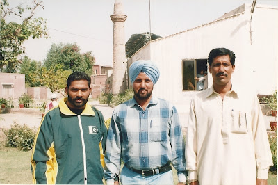 Indian guest (Center) with Ch Mansha Gujjar (Left)