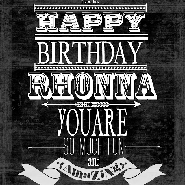 happy birthday rhonna