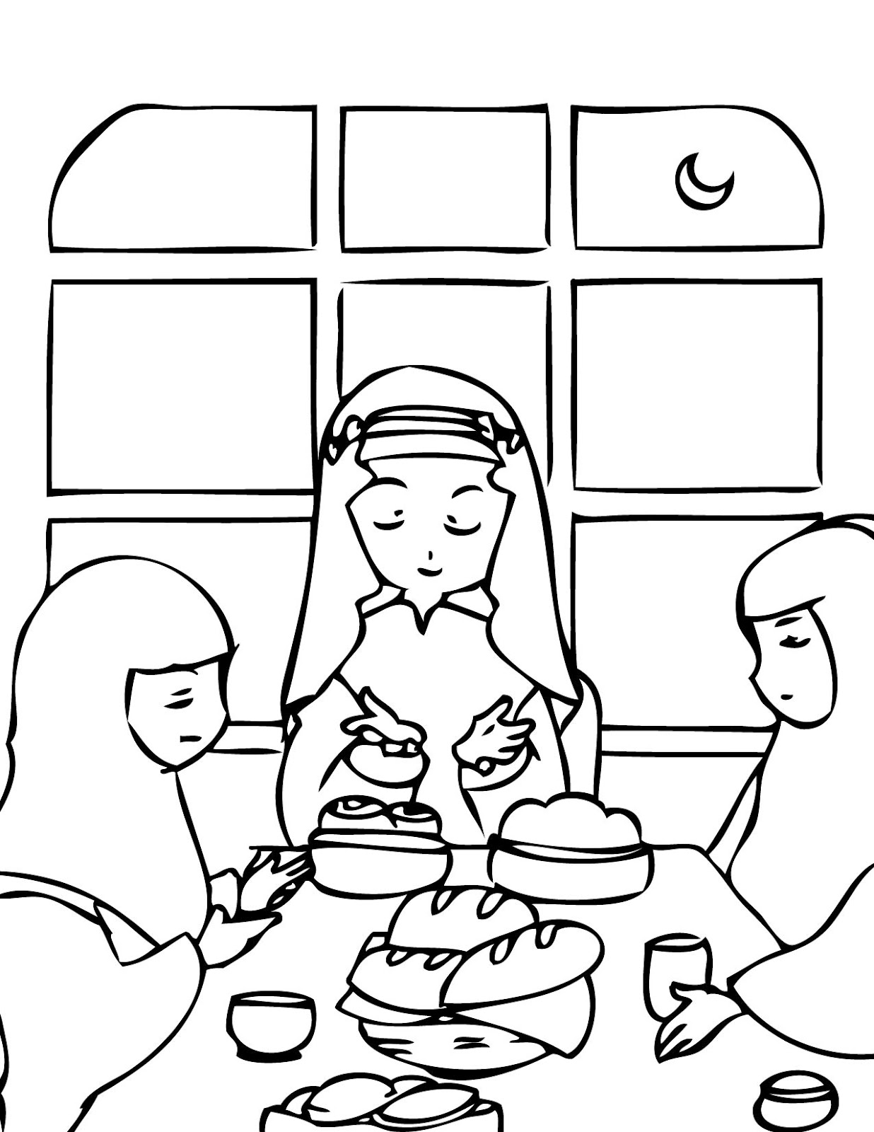 Eid colouring in sheets - Ramadhan Ifthar
