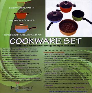 Info & Harga Twin Tulip Tulipware 2014 : Cookware Set - Alat Masak