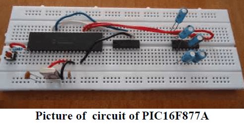 Circuit of PIC16F877A
