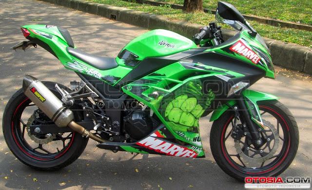 Gambar Modifikasi Motor Kawasaki Ninja N250 FI Keluaran 2013