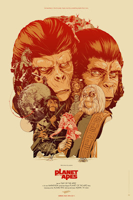 Mondo x Sideshow Collectible Planet of the Apes Screen Print Series - Planet of the Apes by Martin Ansin