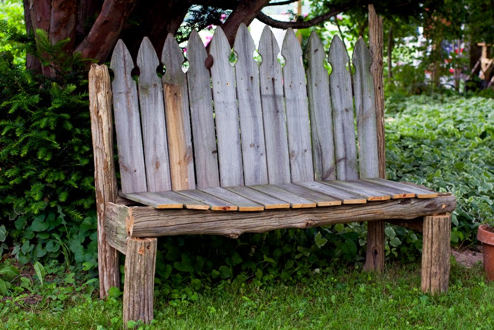 Once Upon My Life Mike Made It Rustic Garden Bench