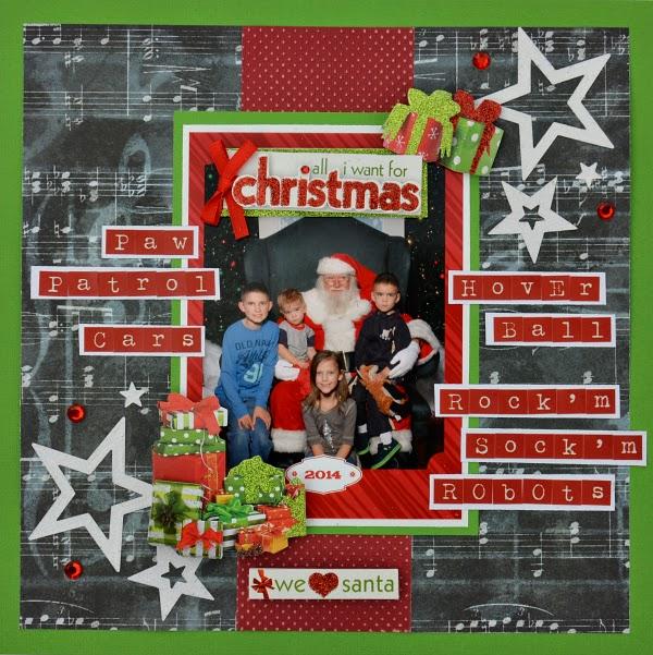 Santa Claus layout by Christine Meyer