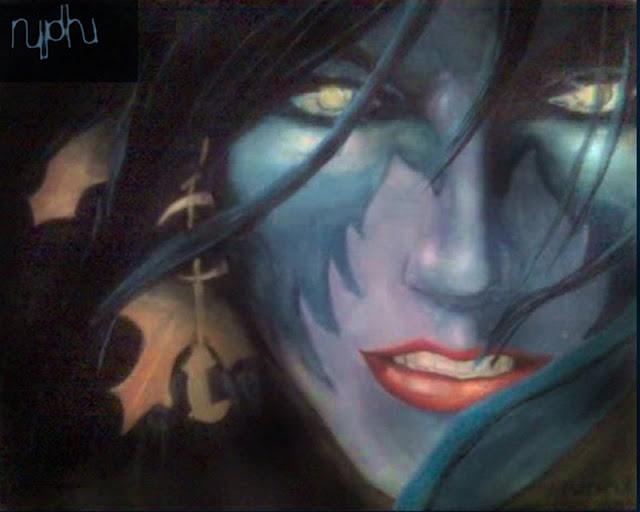 My Version of the Night Elf por nidhi-rathish