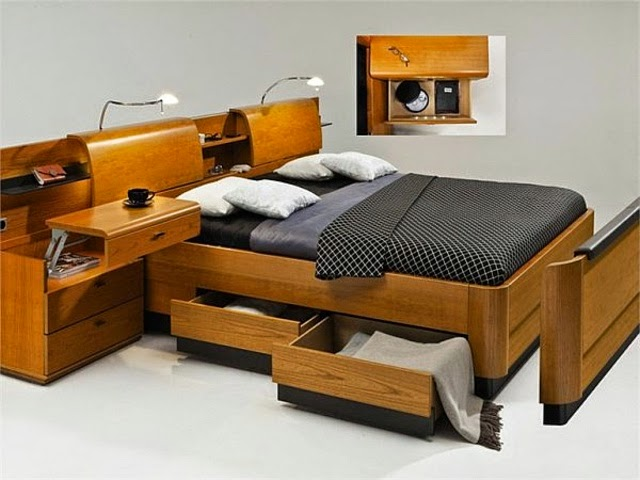 bed with shelf headboard headboard with storage and drawers - Bed With Drawers And Shelves. Simple Pallets Bed Diy Pallet