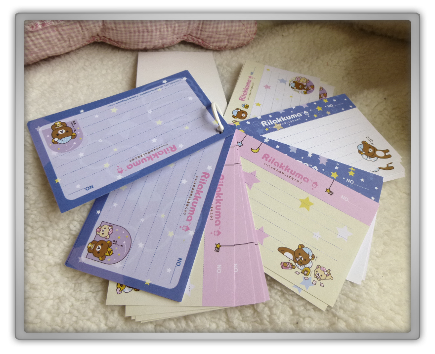 Blippo haul review shoplog rilakkuma kiiroitori korilakkuma notes blue bedtime preview kawaii