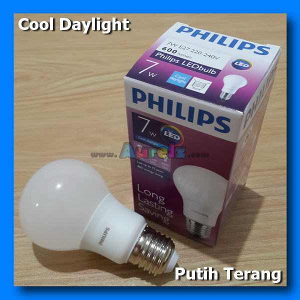lampu led philips 7 watt cool daylight