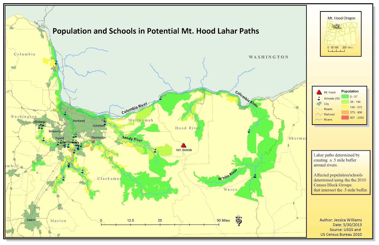 UWF online GIS blog Natural Hazards Lahars