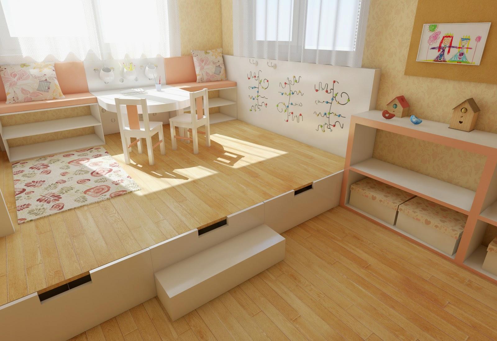Подиумы для детской комнаты своими руками 18