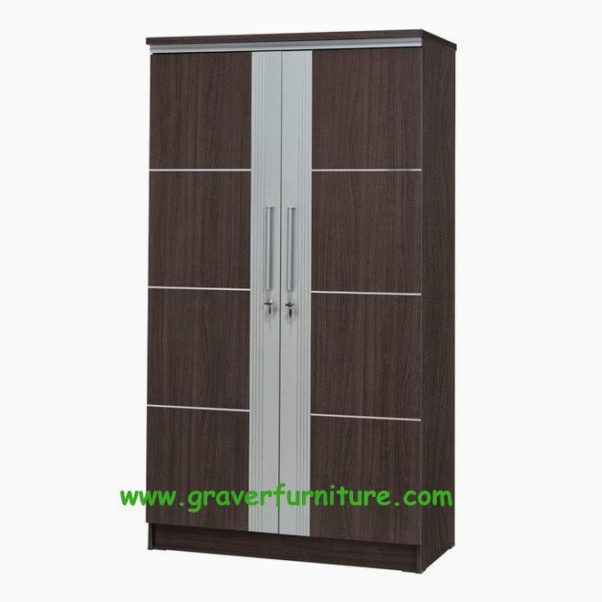 Lemari Pakaian 2 Pintu LP 2995 Graver Furniture
