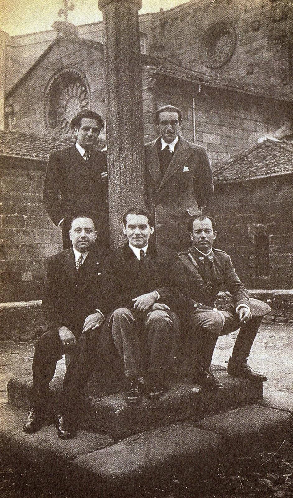 Lorca con unos amigos en Galicia en 1932