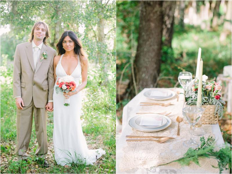 garden inspired stylized wedding photo