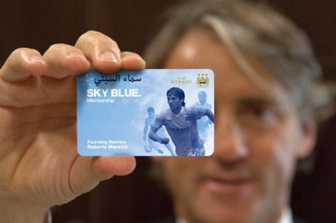أحصل على بطاقة العضوية لنادي كرة القدم مانشستر سيتي الإنجليزي تصلك الى منزلك