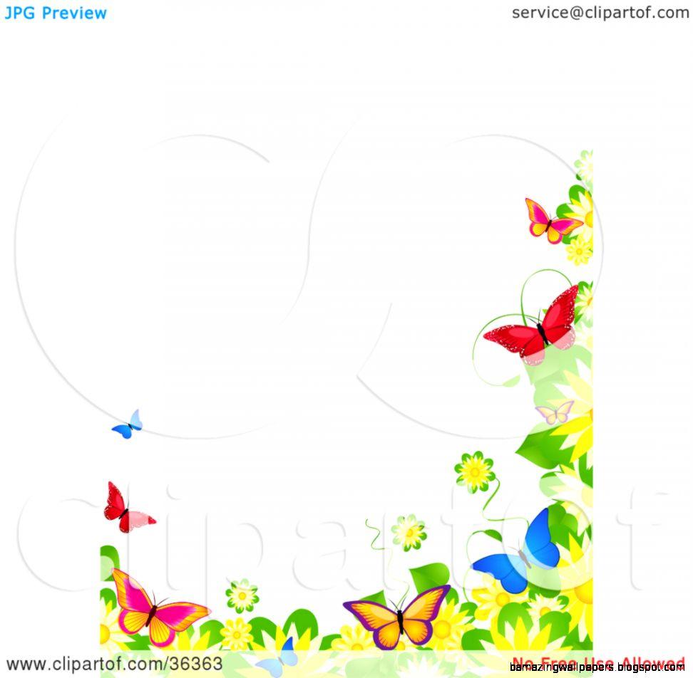 Spring borders clip art