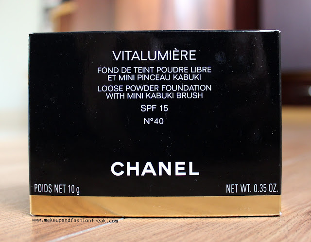 Chanel Vitalumiere Loose Powder Foundation with Mini Kabuki Brush in N 40