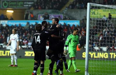 Swansea City 1 - 1 Tottenham Hotspurs (1)