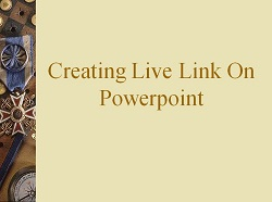 Creating Live Note On Powerpoint