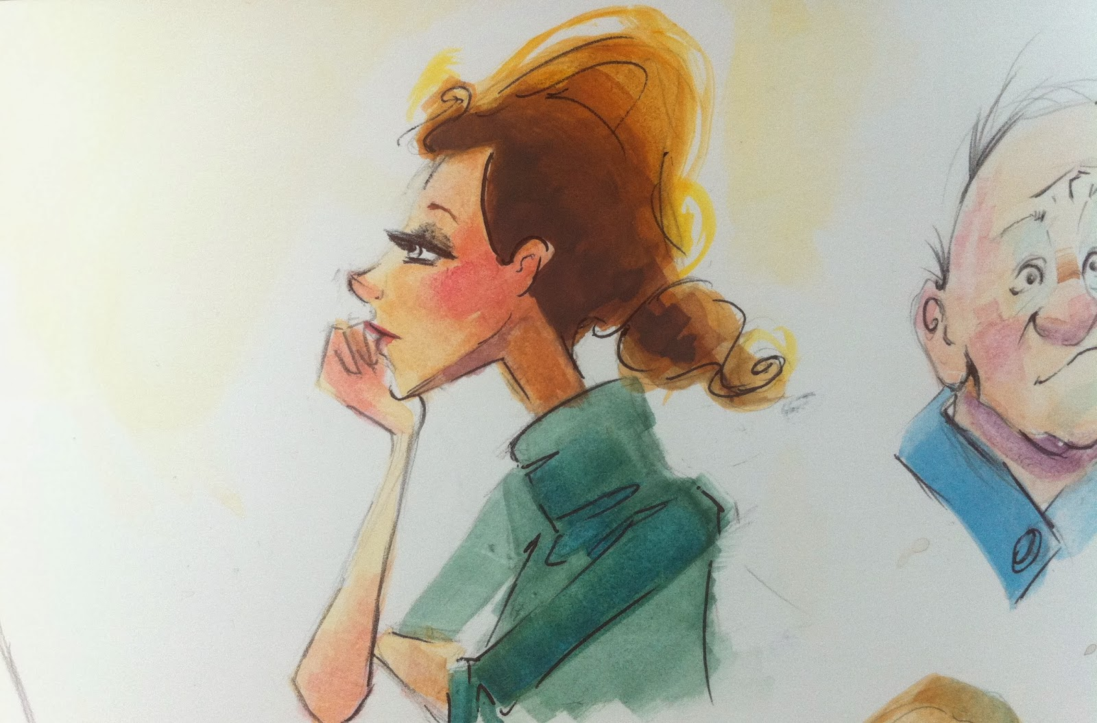 watercolor illustration daydreamer