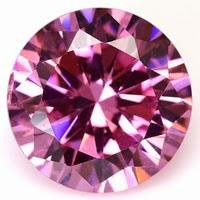 round cut cz stones pink