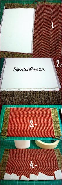 cómo hacer una alfombra para muñecas-