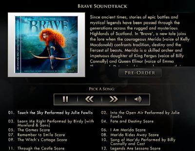 preview the full brave soundtrack pixar post