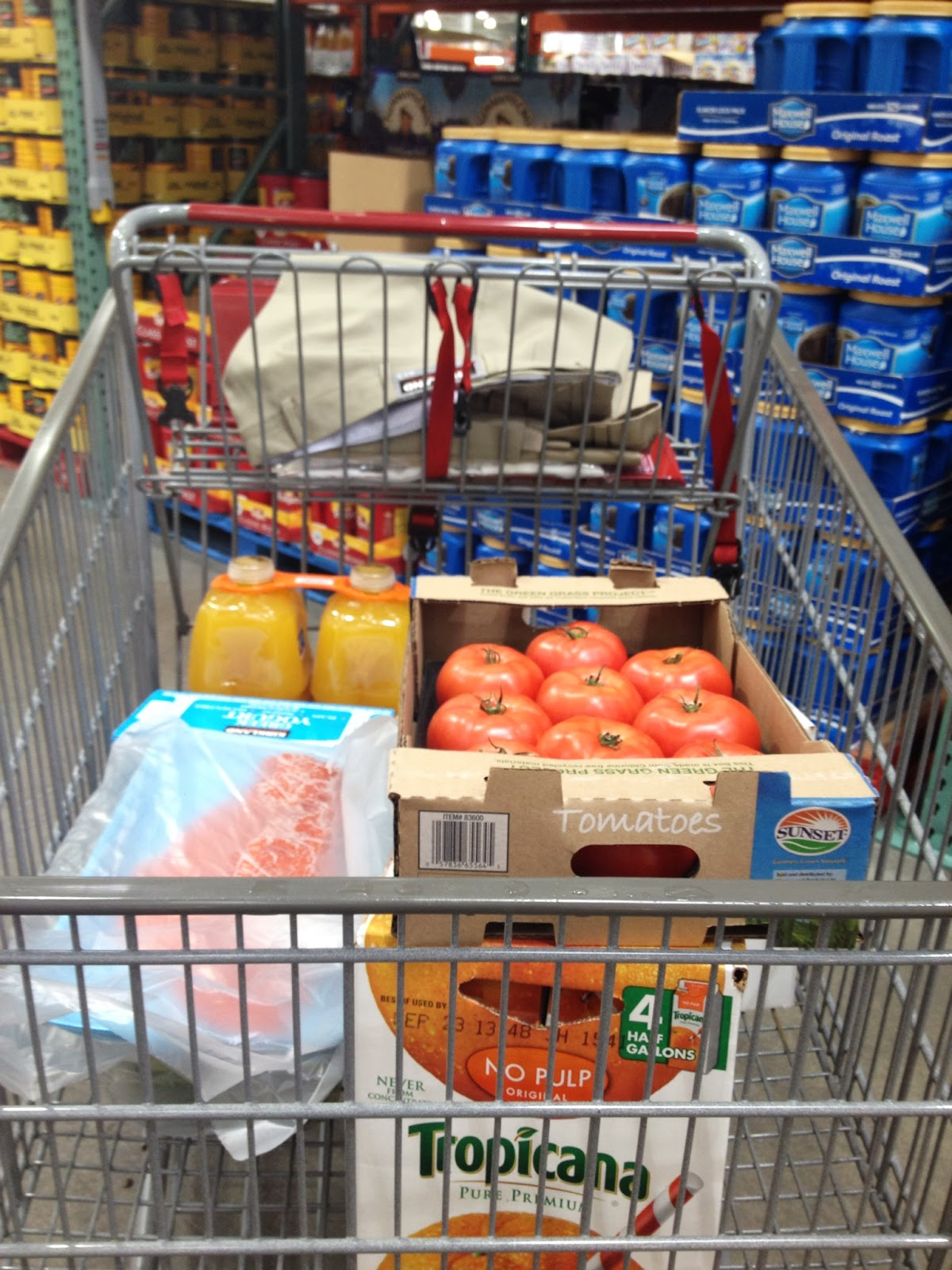 do you really know what you re eating picking up more than a few my first to costco whole in hackensack after a brief vacation netted fresh wild sockeye salmon fillet tropicana orange juice beefsteak tomatoes