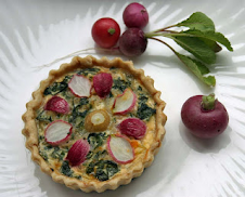 Radish Leaf and Root Tart
