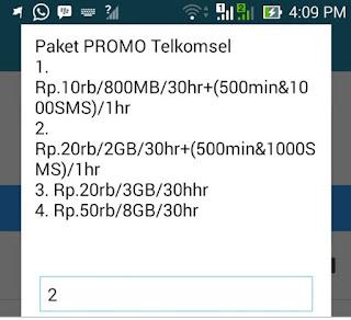 Promo telkomsel 3GB cuma 20ribu Rupiah