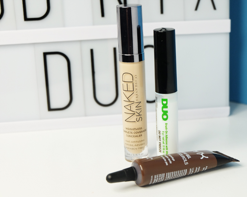Products in Haul include DUO Lash Adhesive, NYX Eyebrow Gel in Espresso and Urban Decay Naked Skin Concealer in Light Warm
