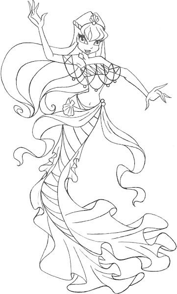 Winx club bloom bloomix coloring pages for Disegni winx sirenix da colorare