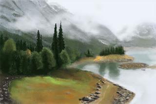 Canada landscape Photoshop study