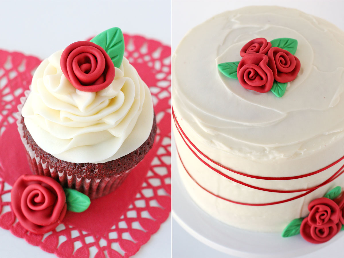 How To Make Fondant Roses And Leaves Glorious Treats
