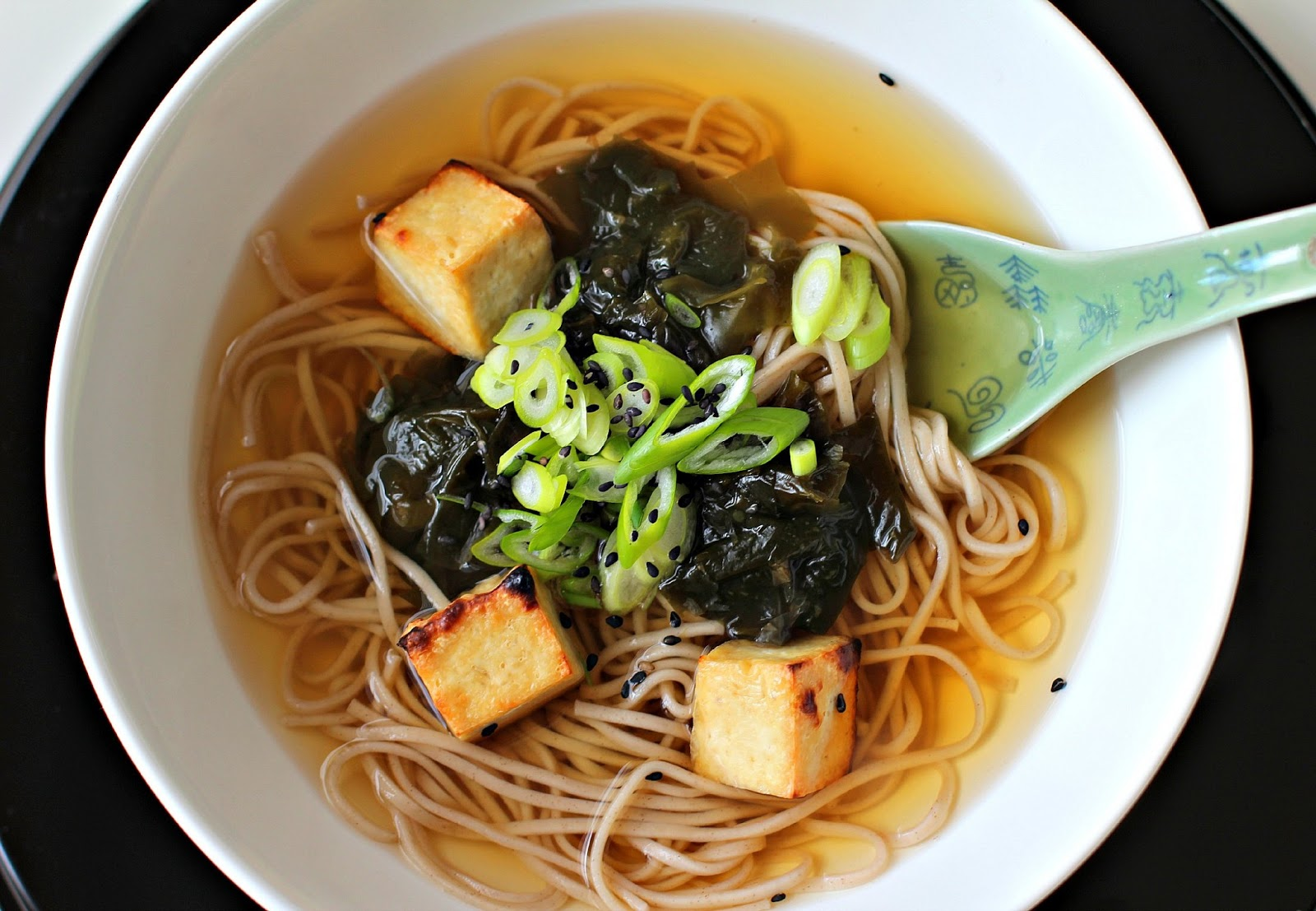 ... Honey: Buckwheat Soba Noodles in Ginger Broth with Grilled Beancurd